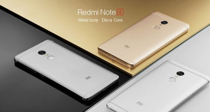 Xiaomi Redmi Note 4 large screen phones