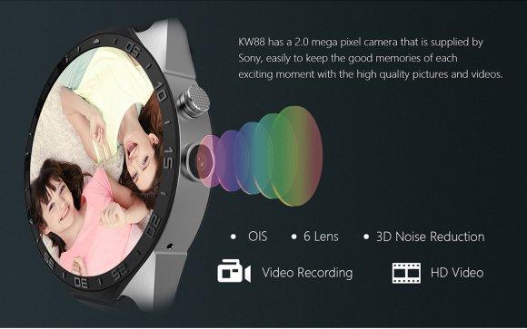 KingWear KW88 3G Smartwatch 2.0MP Camera