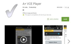 A+VCE player