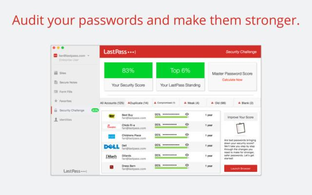 LastPass safari extension