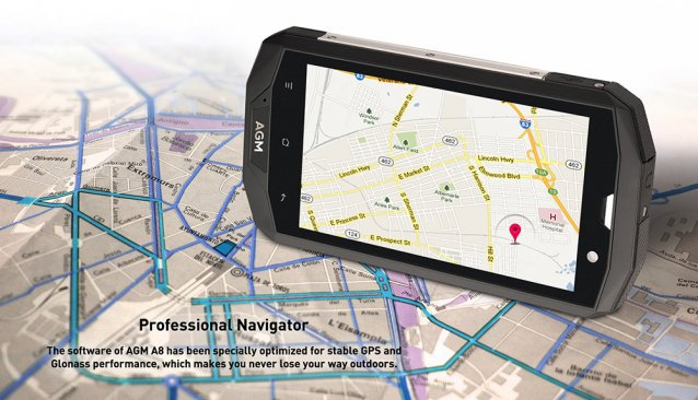 Stabilized GPS Feature for Professional Navigator AGM A8