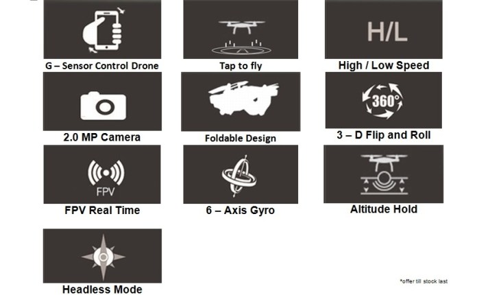 features of JUN YI Toy Drone (JY018)