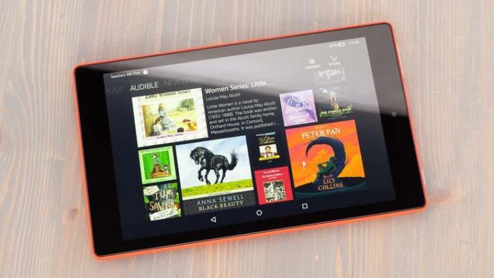 Amazon Fire-HD 8 tablet for reading