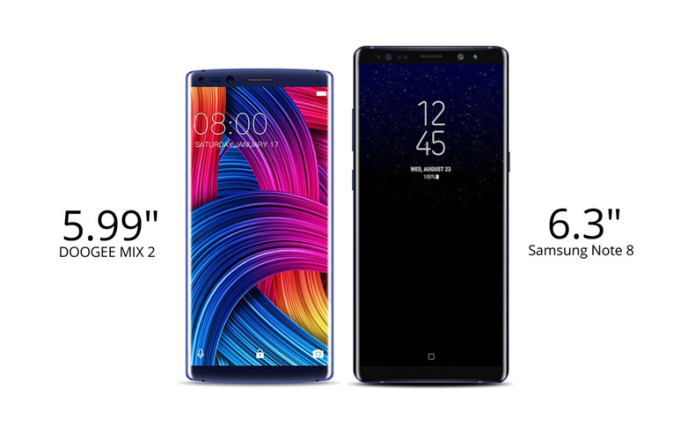 Doogee Mix 2 Vs Samsung Galaxy Note 8