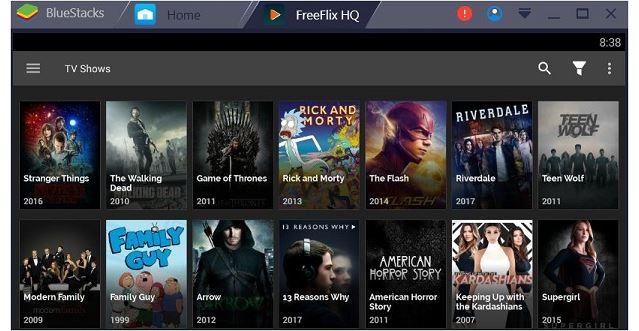 freeflix on winodws pc