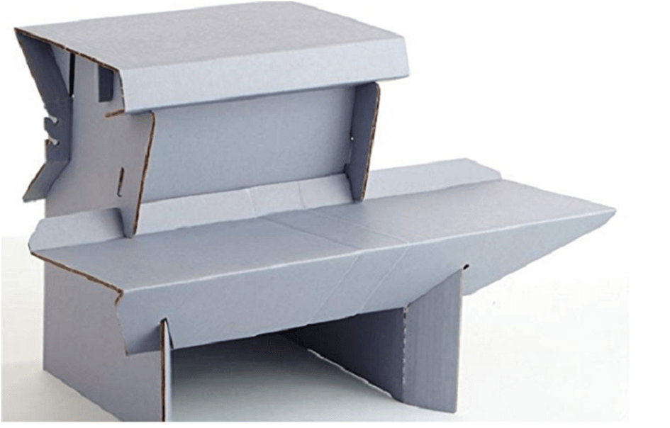 Use a Lightweight Cardboard Standing Desk