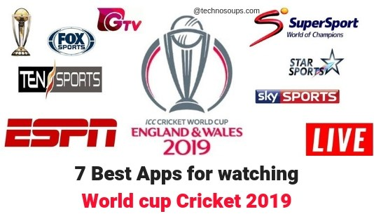 APP FOR WATCH LIVE CRICKET WORLD CUP 2019