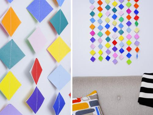 Colorful wall hanging