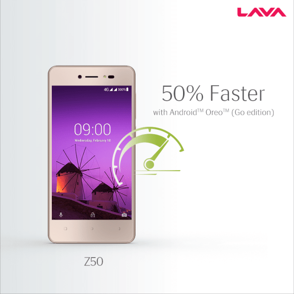 Lava Z50 with Android Go released