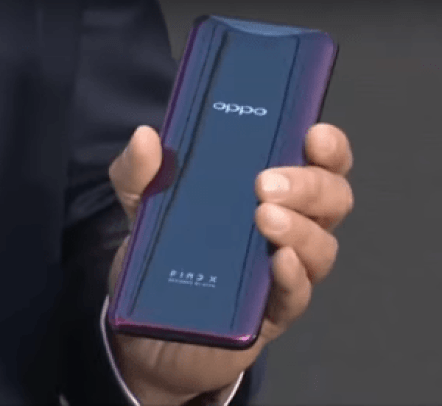 Oppo Find X back side