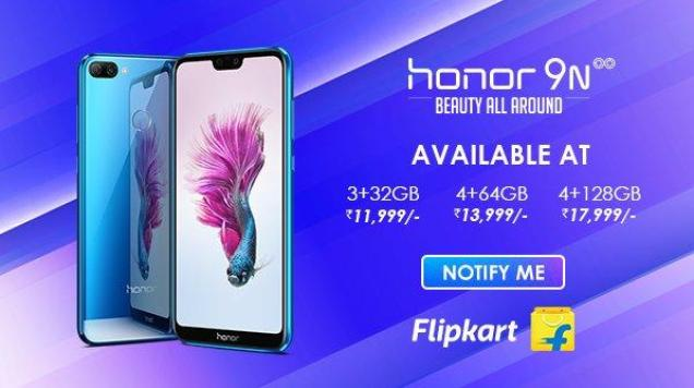 Honor 9N Launched Today In India At Reasonable Price