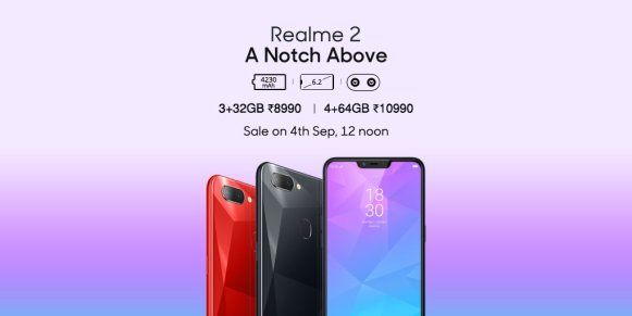 Realme 2 launched in India under Rs.10,000 | See Specifications, Price and Availability.