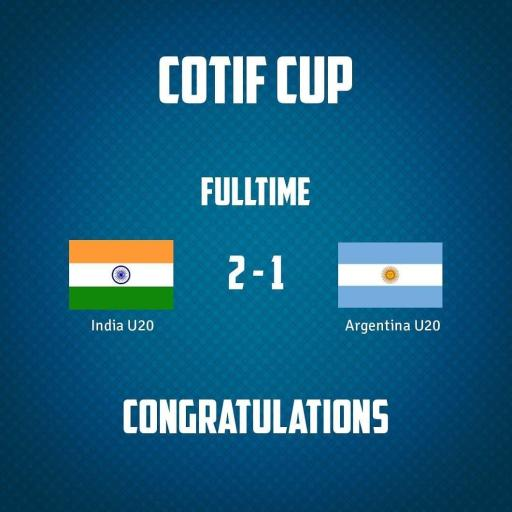 India U-20 creates history by defeating Argentina by 2-1