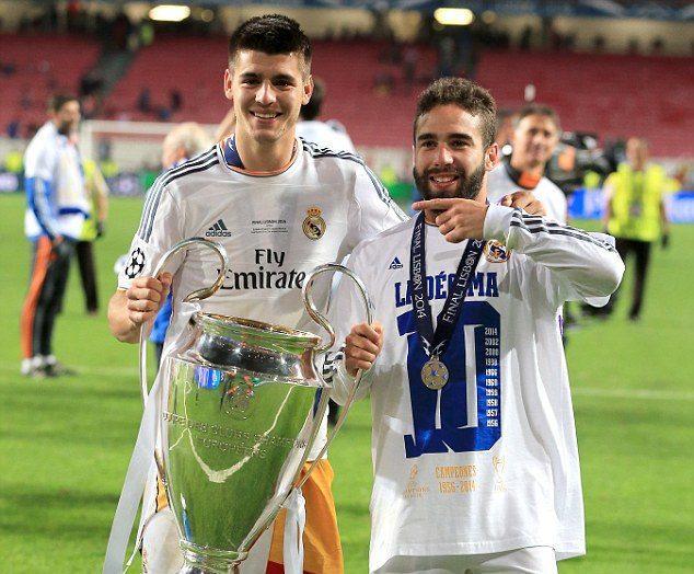 Morata and Carvajal
