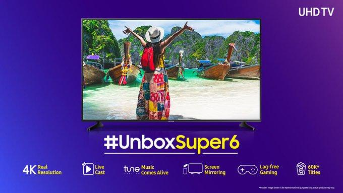Samsung NU6100 is the new 4K UHD Smart TV series by Samsung starting at just Rs.41,990