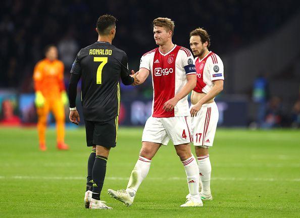 De Ligt and Ronaldo