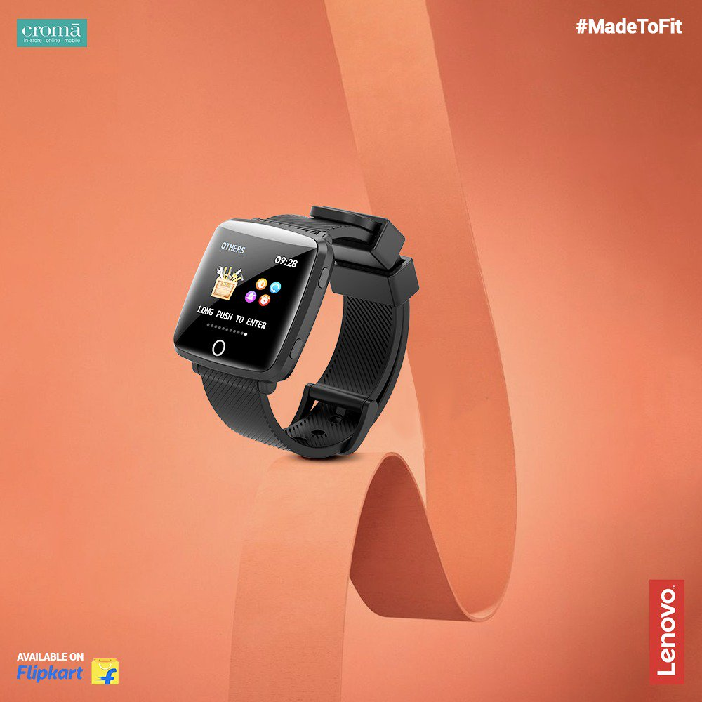 Lenovo Carme smartwatch with IPS Color Display & Heart Rate Monitor launched at Rs.3,499