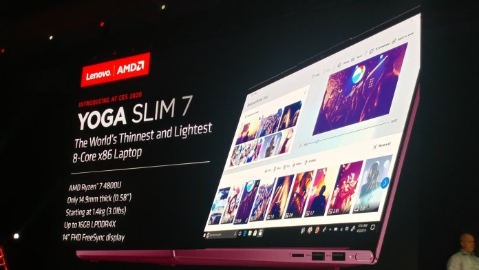 CES 2020: Lenovo Yoga Slim 7 with Ryzen 4000 APUs is here, up to 8C/16T on slim form factor