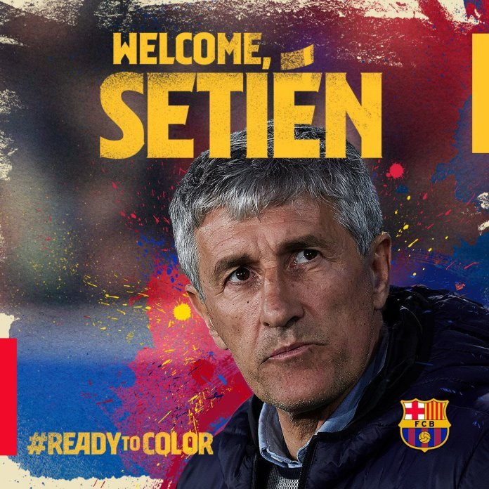 Barcelona appoints head coach of Real Betis, Quique Setién to replace Ernesto Valverde.