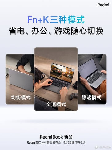 Upcoming RedmiBook laptops with Ryzen 4000 mobile APUs to feature 3 performance modes