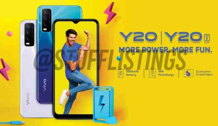 Vivo Y20 and Y20i launching in India soon, Image and Specifications revealed