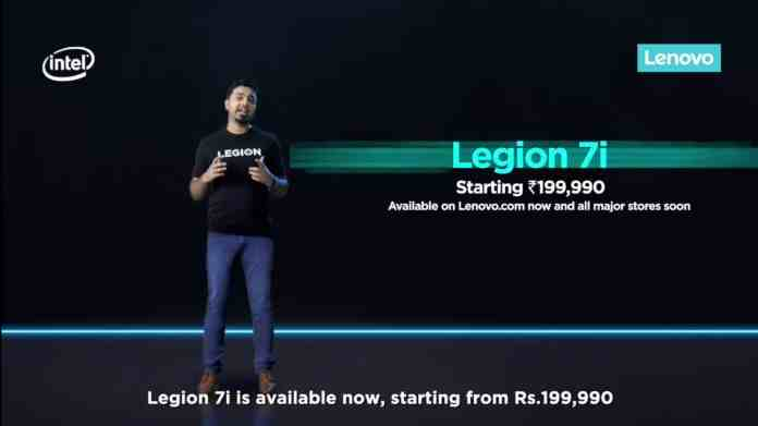 Lenovo Legion 7i gaming laptop with 10th Gen Intel CPUs & NVIDIA GPUs launched in India