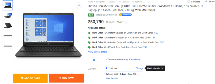 Best selling Intel laptops gets discounted on Flipkart's Big Saving Days