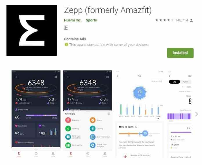 Zepp app_TechnoSports.co.in