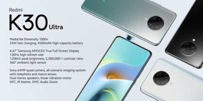 Redmi K30 Ultra comes with Dimensity 1000+ processor and 120Hz display
