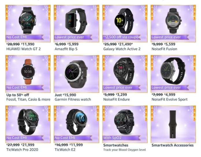 Top offers on Smartwatches on Amazon Great Indian Festival sale_TechnoSports.co.in