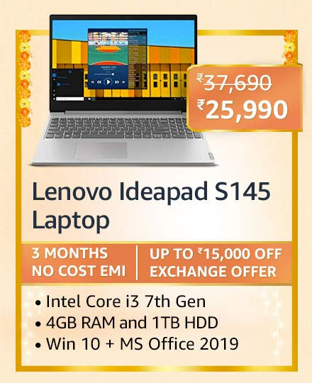Blockbuster deals on Laptops on Amazon Great Indian Festival