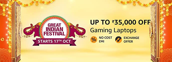 Top deals on Gaming Laptops on Amazon Great Indian Festival