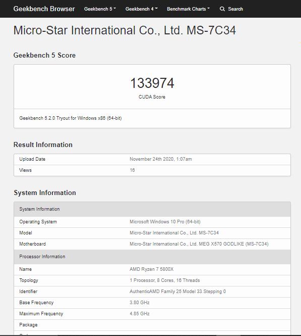 Upcoming RTX 3060 Ti GPU beats RTX 2080 SUPER in OpenCL & CUDA benchmarks