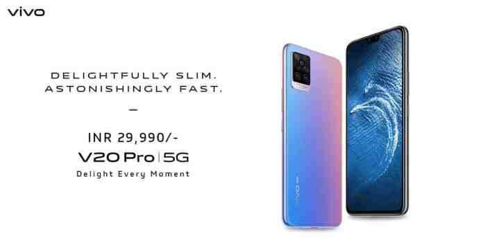 Vivo V20 Pro 5G Launched in India at INR 29,990