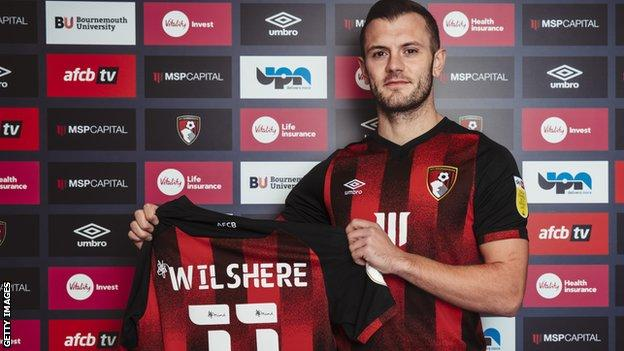 Bournemouth sign Jack Wilshere on short term deal