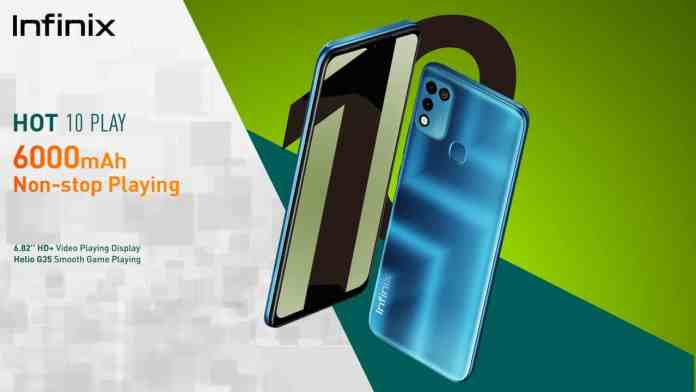Infinix Hot 10 Play arrived with a 6,000mAh battery, Helio G25 chipset