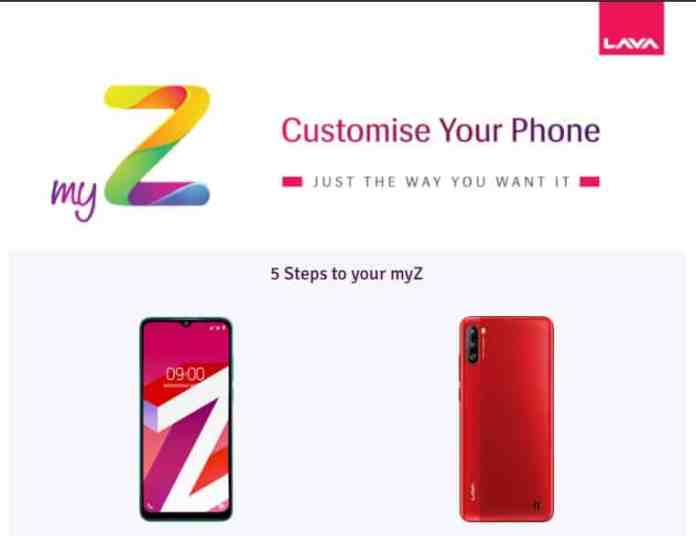 How to customize your own LAVA 'My Z' smartphone in 66 different ways?