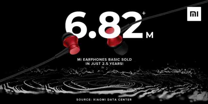 Xiaomi makes another record: sold over 6.82 million Mi Earphones Basic in 2.5 years