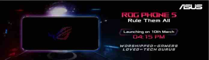 Asus ROG Phone 5 is launching in India on March 10