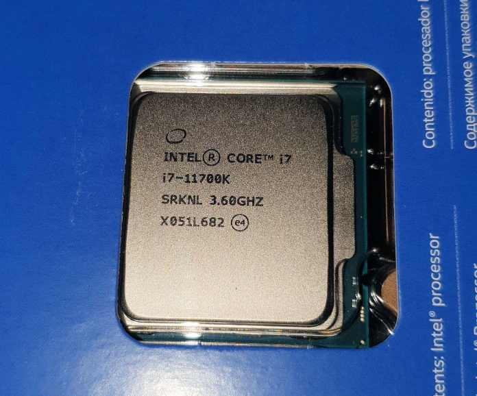 Intel Core i7-11700K is openly sold and benchmarked ahead of launch