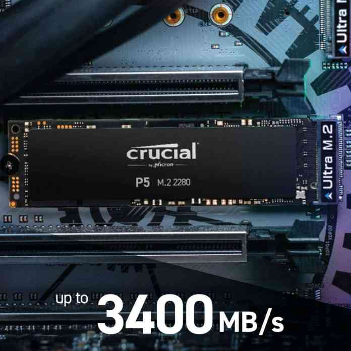 Crucial P5 NVMe SSDs discounted on Amazon India