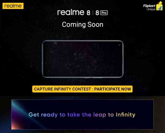 Realme 8 and 8 Pro will be sold via Flipkart
