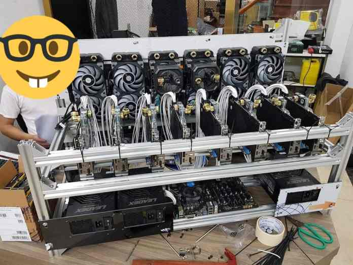 A look at two of the insane looking Crypto-mining rigs
