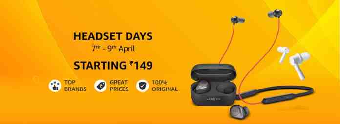 Amazon Headset Days offering great pricing on top Brand products, starting from Rs.149 only_TechnoSports.co.in