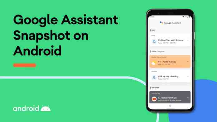Google Assistant snapshot gets a new feature for favourites