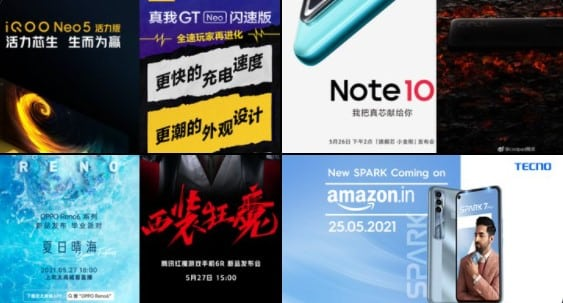 List of Smartphones Launching this Week in May