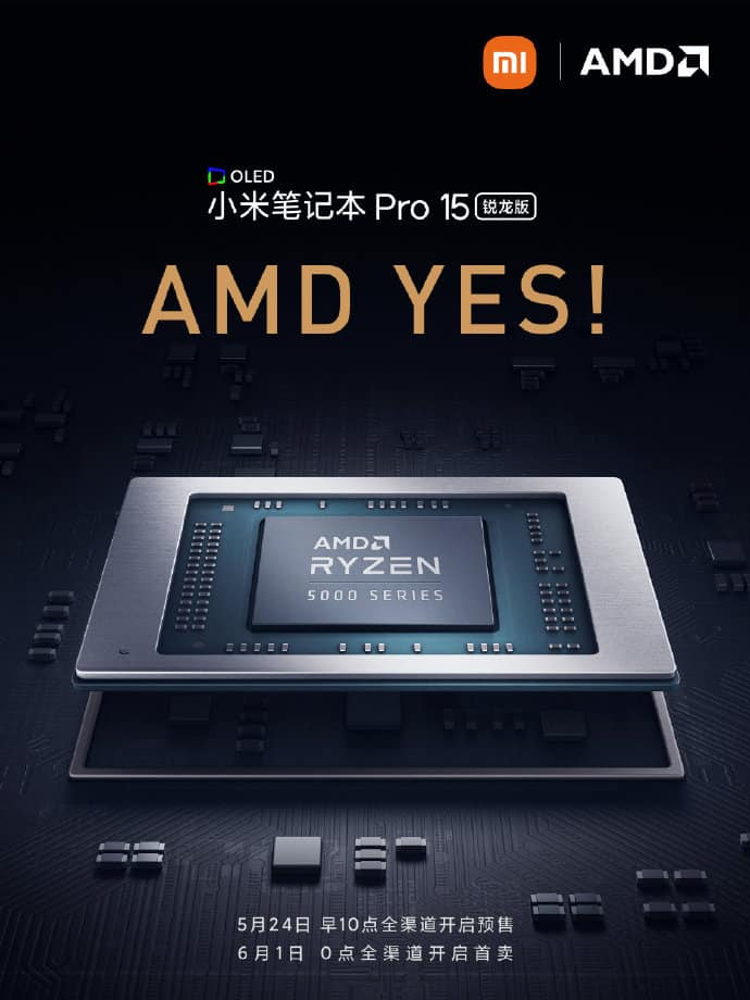 Mi Notebook Pro 15 Ryzen Edition with Ryzen 5000 processors teased by Xiaomi