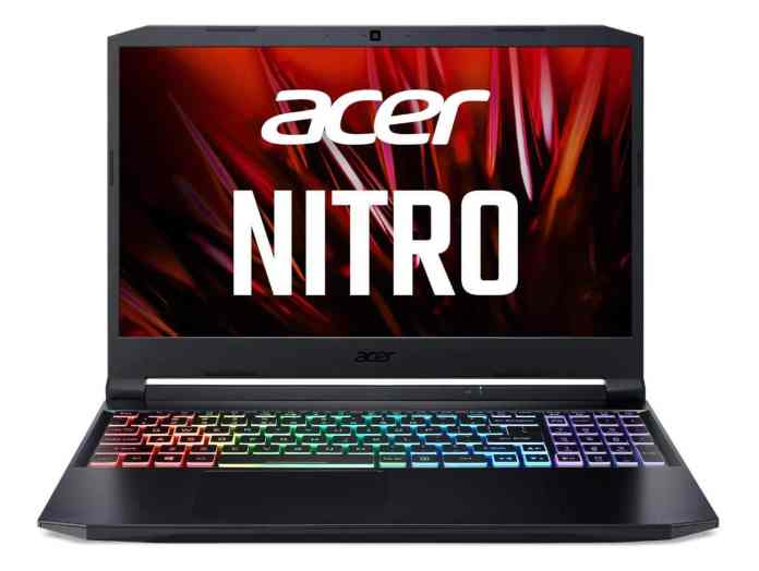Acer Nitro 5 now available up to AMD Ryzen 9 5900HX and RTX 3070