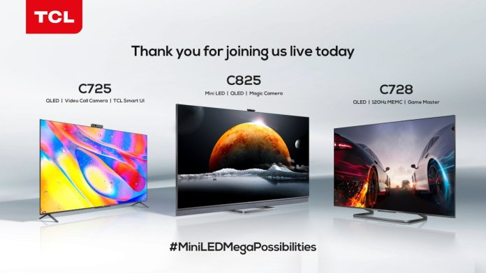 TCL brings Mini LED C825 and QLED C725 Android TVs to the Indian market