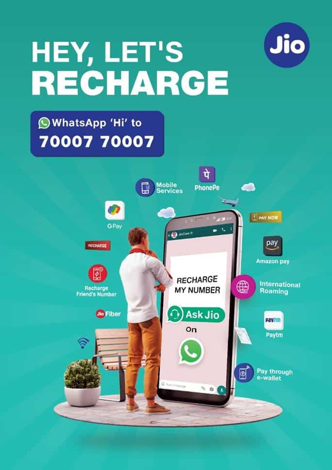 Jio users can use WhatsApp to recharge, make payments, order on JioMart & much more
